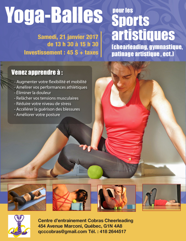 Yoga-Balles Yogami Gymnastique, patinage artistique, cheerleading