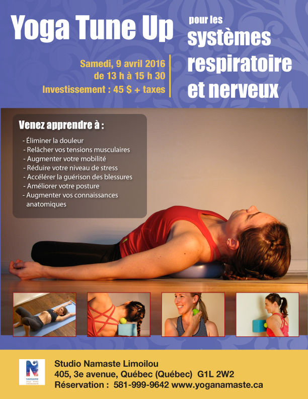 Yoga Tune Up Coregeous systeme nerveux respiratoire